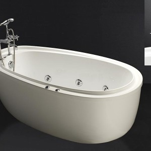 Bồn tắm massage có chân có yếm Caesar MT6480