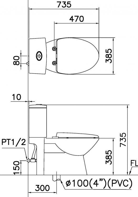 Bản vẽ kỹ thuật Caesar CD1340+TAF200H